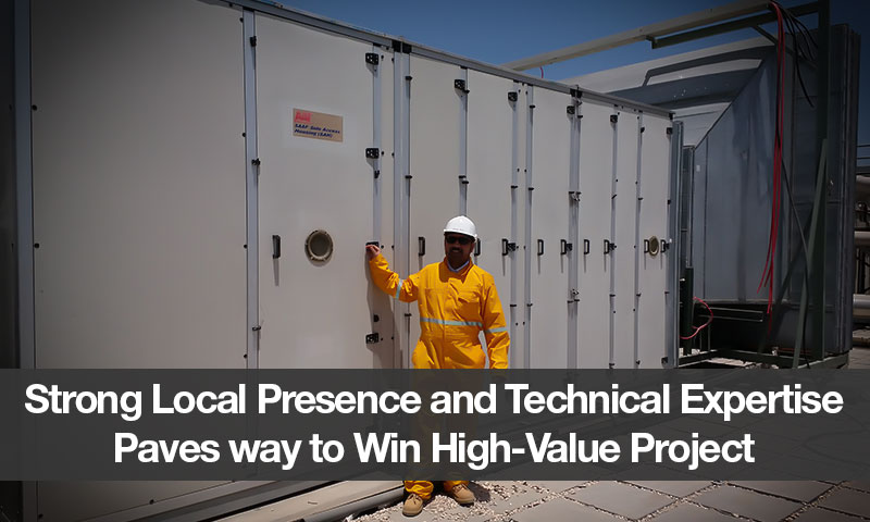 Strong Local Presence and Technical Expertise Paves way to Win High-Value Project
