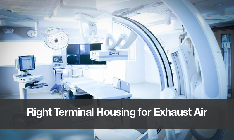 Right Terminal Housing for Exhaust Air
